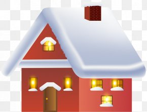 Hand-painted Snow House - Snow Clip Art PNG