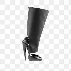Black Simple Boots - Shoe High-heeled Footwear Designer PNG