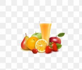 Fruits And Orange Juice - Orange Juice Fruit Illustration PNG