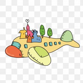 Cartoon Airplane - Airplane Drawing Photography Illustration PNG