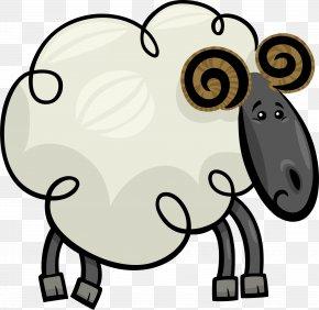 Beige Cartoon Goat - Saanen Goat Sheep Cartoon Clip Art PNG