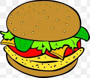 Burger Cliparts - Hamburger Cheeseburger Veggie Burger Chicken Sandwich McDonalds Big Mac PNG