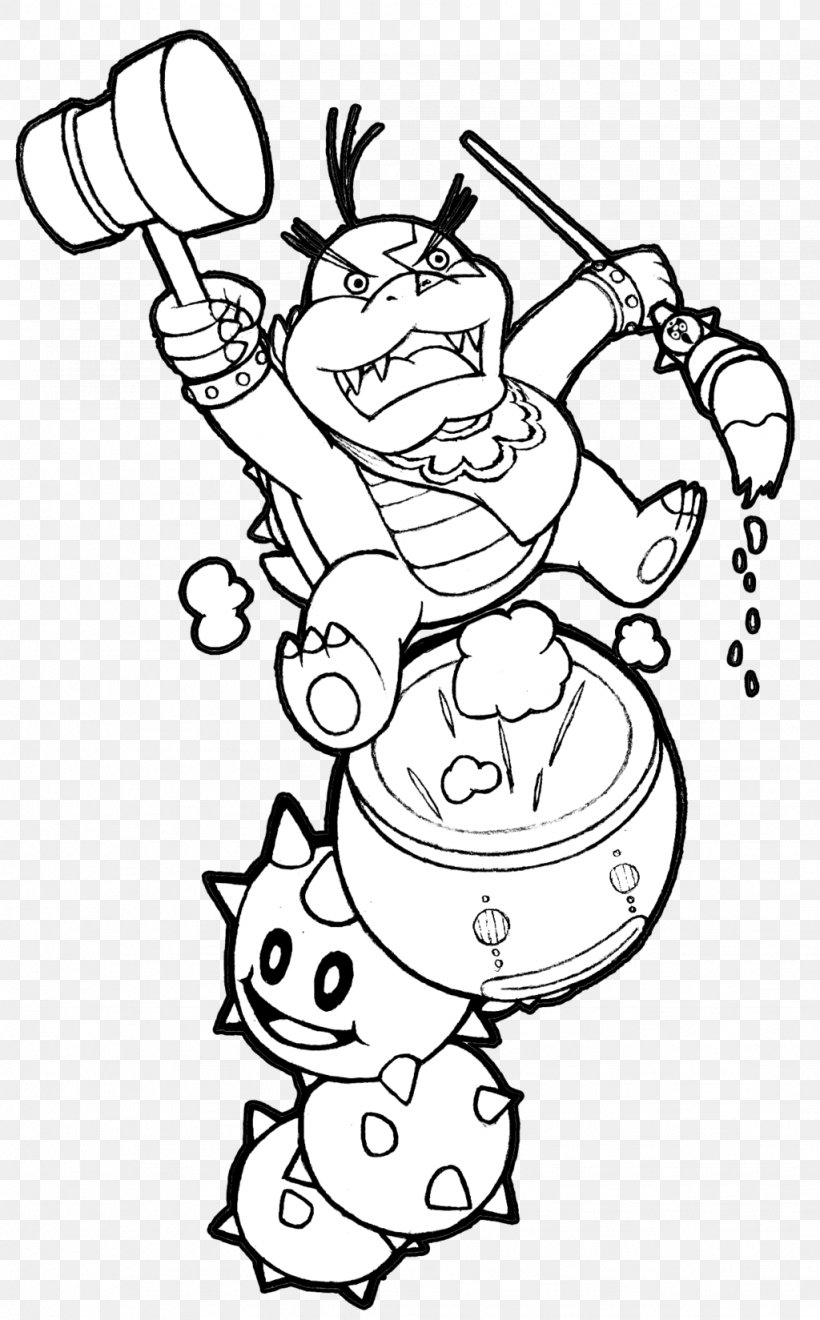 - Bowser New Super Mario Bros. Wii Coloring Book Koopalings, PNG