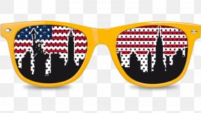 New York Skyline - Goggles Sunglasses PNG