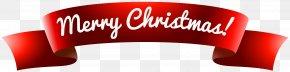 Banner Merry Christmas Clip Art Image - Santa Claus Christmas Card Greeting Card PNG