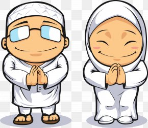 Cartoon Muslim Prayer Male And Female Vector - Islam Muslim Royalty-free Clip Art PNG