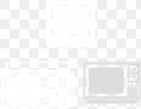 Vintage Black And White TV Background Material - White Square Brand Area Pattern PNG