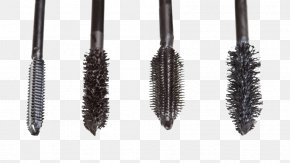 Black Eyelash Brush Head - Eyelash Mascara Cosmetics Brush Eye Shadow PNG