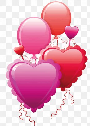 Heart And Balloon - Valentine's Day Heart Clip Art PNG