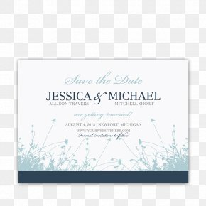 Save The Date - Wedding Invitation Save The Date RSVP Navy Blue PNG