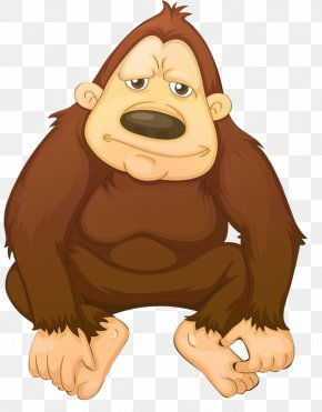 Cute Gorilla - Gorilla Ape Illustration PNG