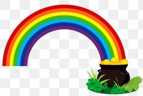 St Patrick Images - Saint Patrick's Day Rainbow Gold Clip Art PNG