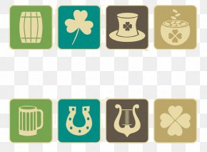 Western St. Bartrick Festival Clover Beer Cup - Ireland Saint Patricks Day Clover Icon PNG