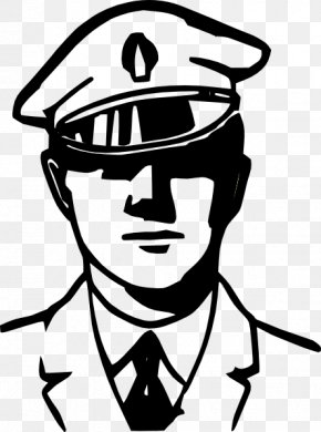 Police Officer Outline - Police Officer Black And White Police Car Clip Art PNG