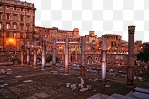 Rome, Italy - Roman Forum Palatine Hill Trajans Forum Trajans Market Forum Of Caesar PNG