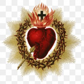 1000 - Feast Of The Sacred Heart Catholic Devotions Holy Card PNG