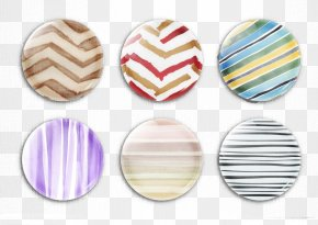 Creative Arts Striped Button - The Arts PNG