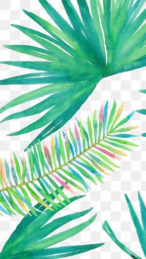 Watercolor Leaves - IPhone 6 Plus IPhone 7 Plus Wallpaper PNG