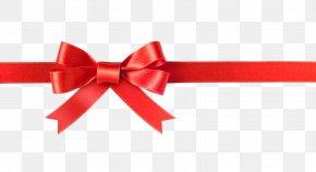 Bowknot - Red Ribbon Christmas Gift Clip Art PNG