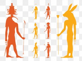 Color Silhouette Figures - Ancient Egyptian Deities Deity Set Ancient Egyptian Religion PNG