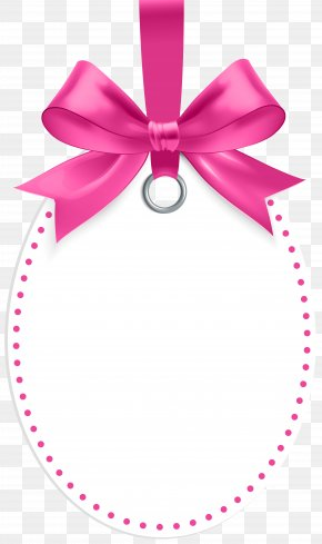 Label With Pink Bow Template Clip Art - Canada Alarm Clock Table Argos PNG