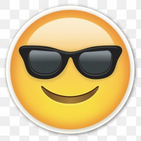 Smiling Face With Sunglasses Cool Emoji - Emoji Emoticon Sticker Smiley PNG