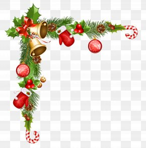 Christmas Decorative Background - Christmas Decoration Santa Claus Clip Art PNG