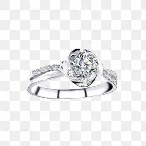 Ba Fana Platinum Diamond Ring Rotation Happiness - Ring Platinum Diamond PNG