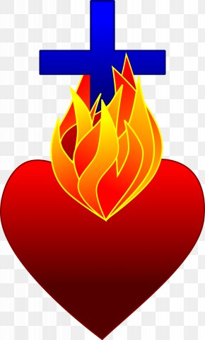 Flame Heart Cliparts - Heart Fire Flame Drawing Clip Art PNG
