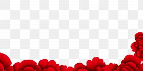 Red Floral Background Decoration - Flower Red Wallpaper PNG
