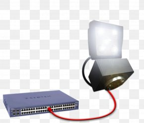 Power Over Ethernet - Light-emitting Diode Power Over Ethernet Network Switch PNG