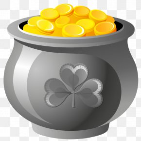St Patrick Pot Of Gold With Coins PNG Picture - Saint Patrick's Day Art Craft March 17 Shamrock PNG