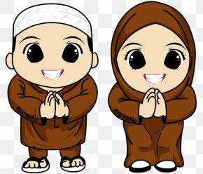 Aidilfitri - Muslim Islam Cartoon Clip Art PNG