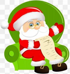 Santa Claus Sitting On Chair Clip Art Image - Santa Claus Christmas Ornament Clip Art PNG