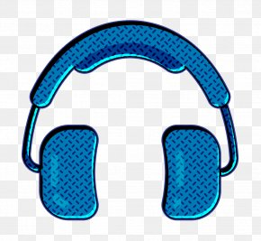 Electric Blue Aqua - Free Icon Headphones Icon Hipster Icon PNG