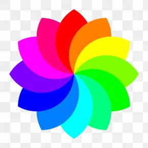 Rainbow Flower Cliparts - Rainbow Rose Flower Petal Clip Art PNG