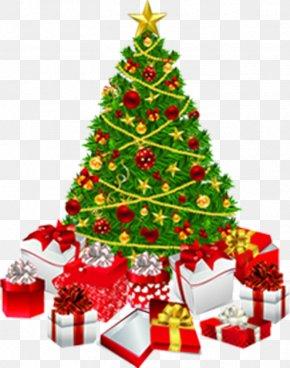 Christmas Tree, Green, Creative Taobao - Christmas Tree Christmas Gift Clip Art PNG