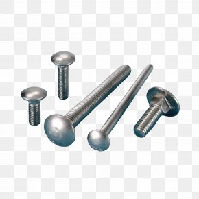 A Pile Of Stainless Steel Screws - Carriage Bolt Nut Screw Fastener PNG