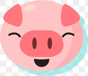Smiling Pig Silhouette - Domestic Pig Silhouette Gratis PNG