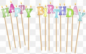 Happy Birthday Deco Candles Clip Art - Happy Birthday To You Candle Clip Art PNG