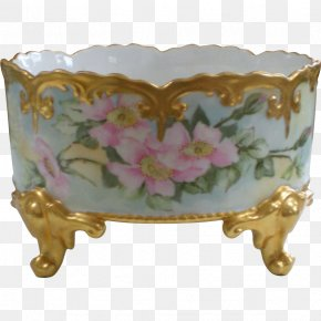 Hand-painted Flower Pot - Porcelain PNG