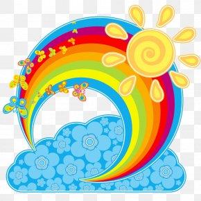Rainbow - Rainbow Cloud Euclidean Vector Sky Clip Art PNG