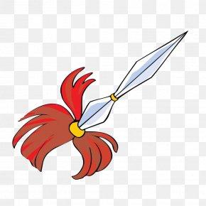 Hand-painted Arrow Spear - Hoko Yari Weapon Clip Art PNG
