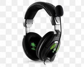 Xbox 360 Wireless Headset - Xbox 360 Wireless Headset Turtle Beach Ear Force X12 Black Headphones PNG