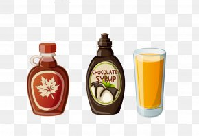 Juice Bottle Poster Summer Vector Material - Breakfast Cereal Toast Pancake Waffle PNG