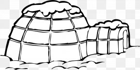 Igloo Transparent Background - Igloo Coloring Book Worksheet Page Child PNG