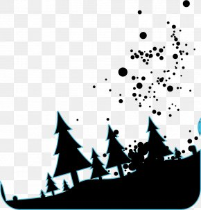 Vector Black Forest - Black And White Euclidean Vector PNG