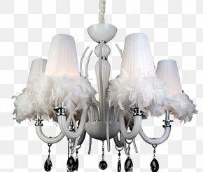 Feather Pendant - Chandelier Lamp Pendant Light PNG