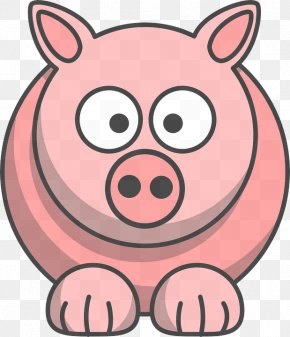 Smile Suidae - Pink Cartoon Clip Art Nose Snout PNG