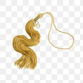 Gold - Tassel Earring Regalia Gold Academic Dress PNG